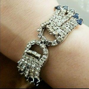 Showstopper vintage rhinestone clamper bracelet